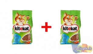 """Sausas ėdalas katėms """"KITEKAT"""" su tunu ir daržovėmis, 2 vnt. po 1 kg"""