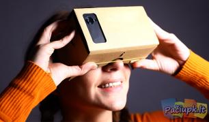 Kartoniniai virtualios realybės akiniai mobiliesiems telefonams