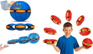 """Ryškiaspalvis kamuolys - skraidantis diskas viename """"Flat ball"""""""