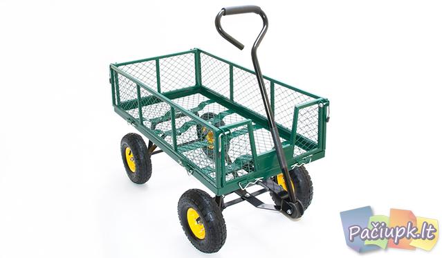 Talpus sodo vežimėlis su keturiais ratais