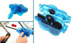 Specialus dviračio grandinės valymo bei tepimo prietaisas
