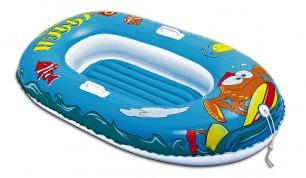 Vaikiška pripučiama valtis mėlyna