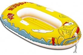 Vaikiška pripučiama valtis geltona