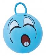 """Pripučiamas šokinėjimo kamuolys """"Gram Funny Face"""" mėlynas"""