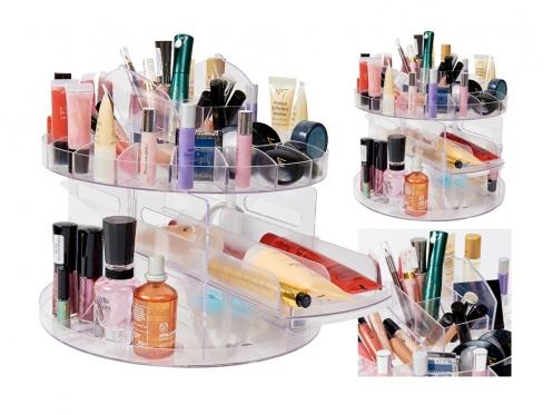Kosmetikos ir makiažo priemonių laikiklis