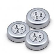 """Lengvai pritvirtinami šviestuvai su 3 LED lemputėmis """"Stick n click"""" (3 vnt.)"""