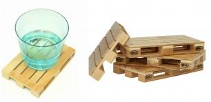 Mediniai stalo padėkliukai - paletės (4 vnt.)