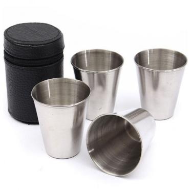 Nerūdijančio plieno stiklinės (4vnt.)