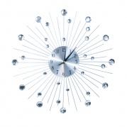 Sieninis laikrodis tiesiais spinduliais su kristalais