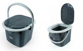 """Nešiojamasis mini tualetas su dangčiu """"Branq"""", 15,5 l"""