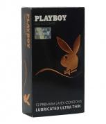 """Prezervatyvai """"Playboy Ultra Thin"""" (12 vnt.)"""